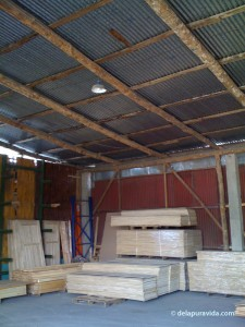 Costa Rican wood supply store