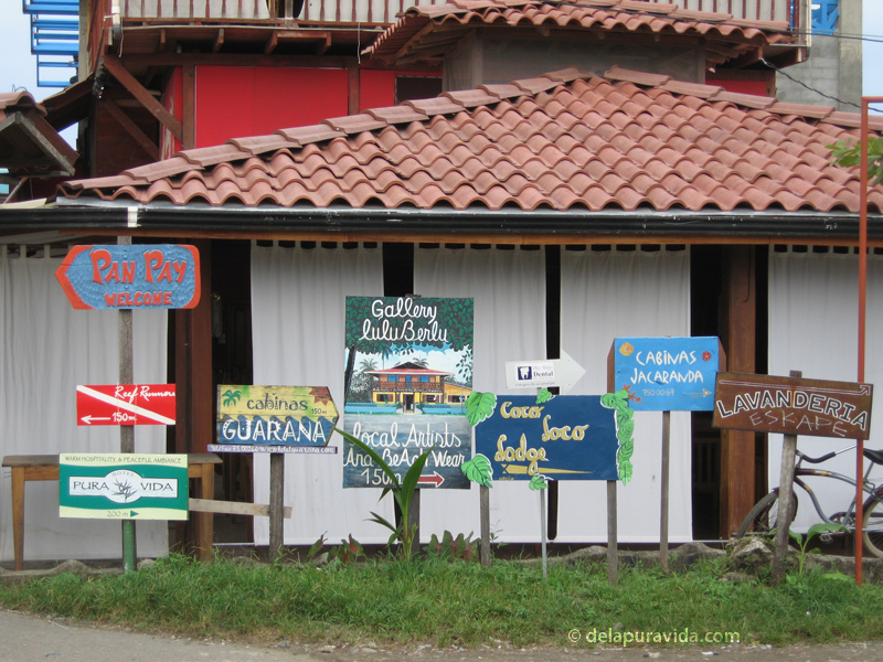 Hand painted signs in Puerto Viejo