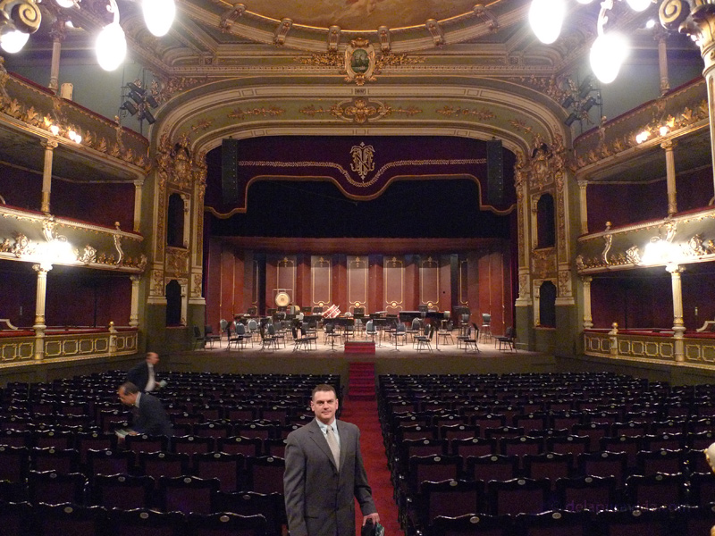 Julio in the Teatro Nacional, San Jose, Costa Rica