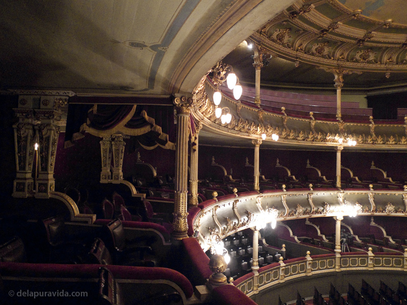 View of seats inside Teatro Nacional