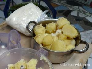 masa and potatoes