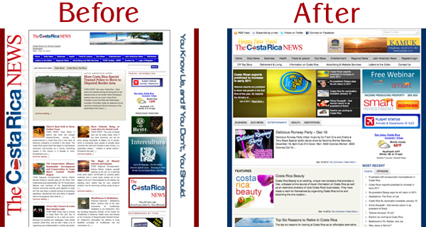 web design before and after