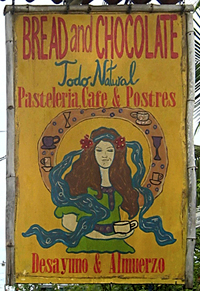 sign for restaurant in puerto viejo