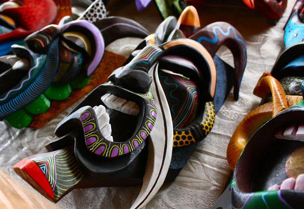 costa rican souvenir - boruca masks