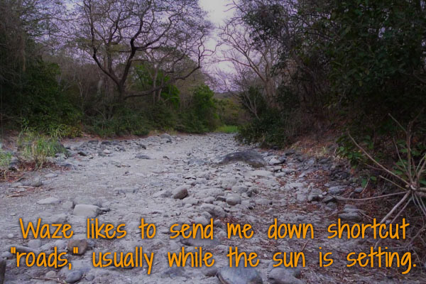 a dry river bed in costa rica