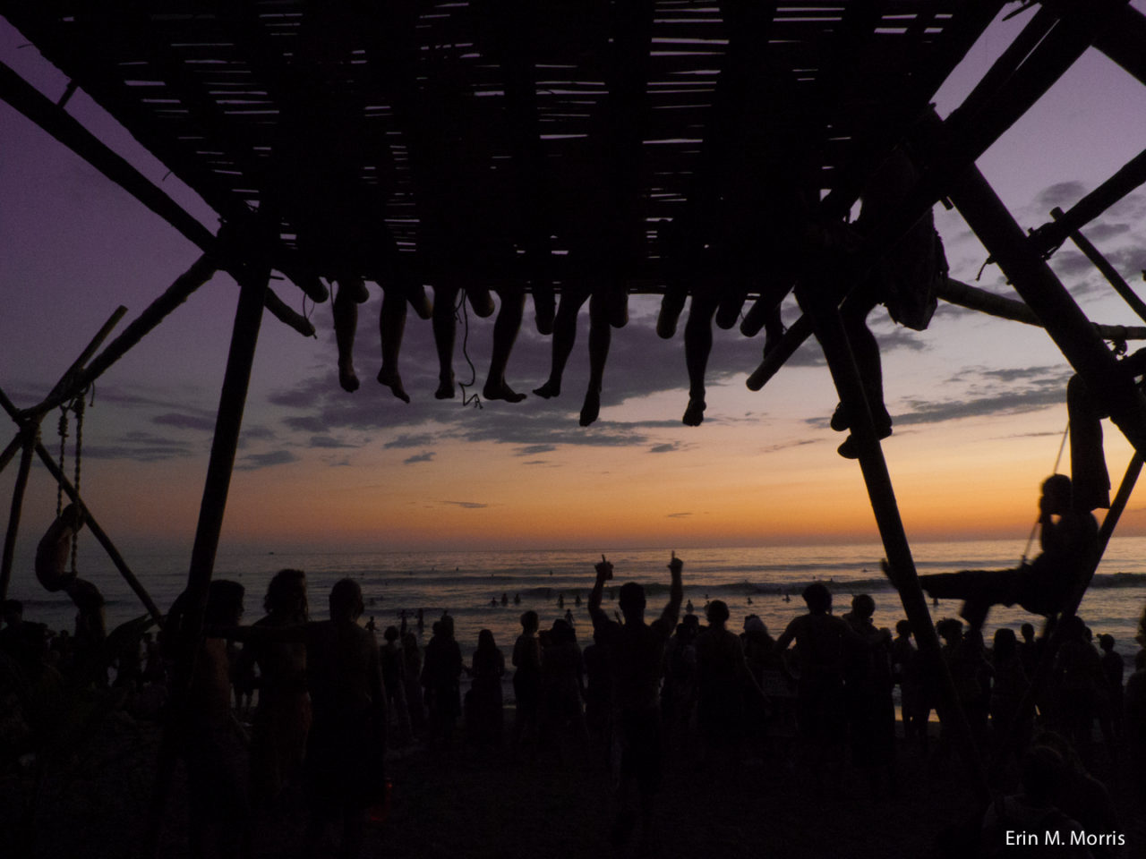 sunsets on the beach at Envision Festival