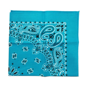 teal bandana made in the USA