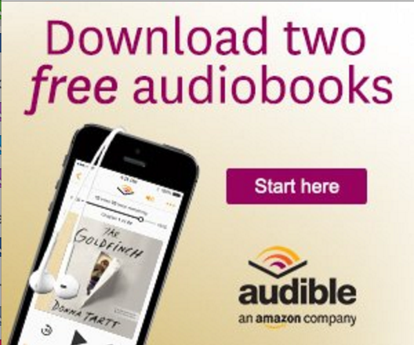 a link to 2 free audiobooks from audible