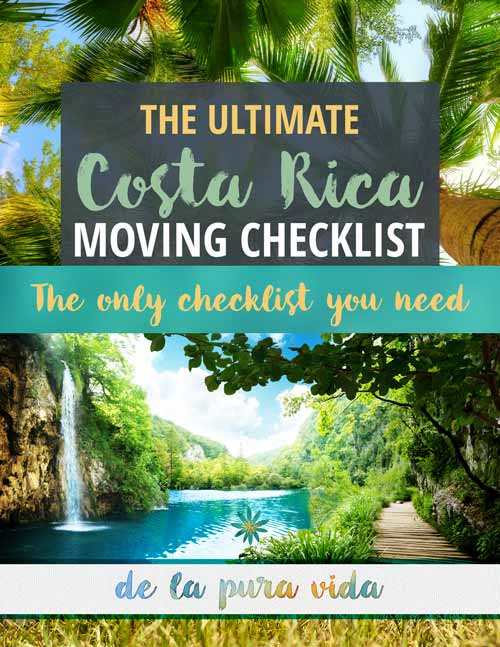 the ultimate costa rica moving checklist cover