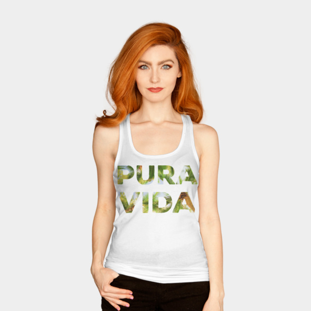 pura vida tank top with palm trees