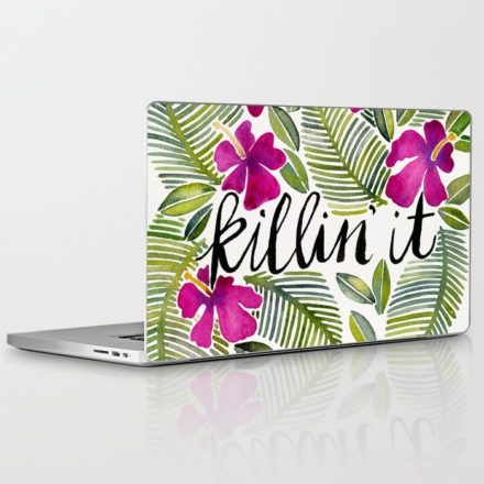 killin' it tropical laptop skin