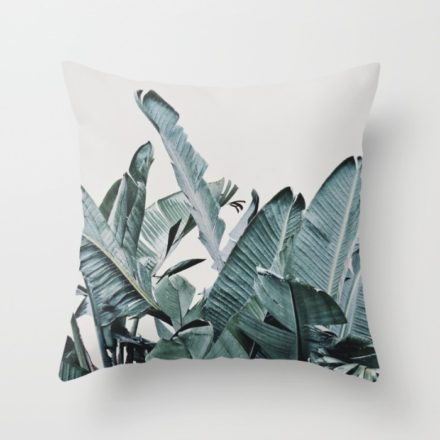 Original plant art on a throw pillow produced by Society6.