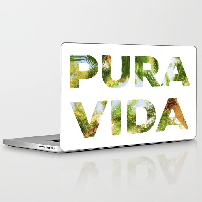 pura vida laptop skin