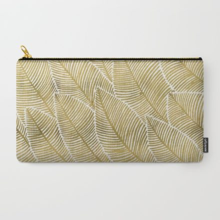 tropical gold art carry all pouch