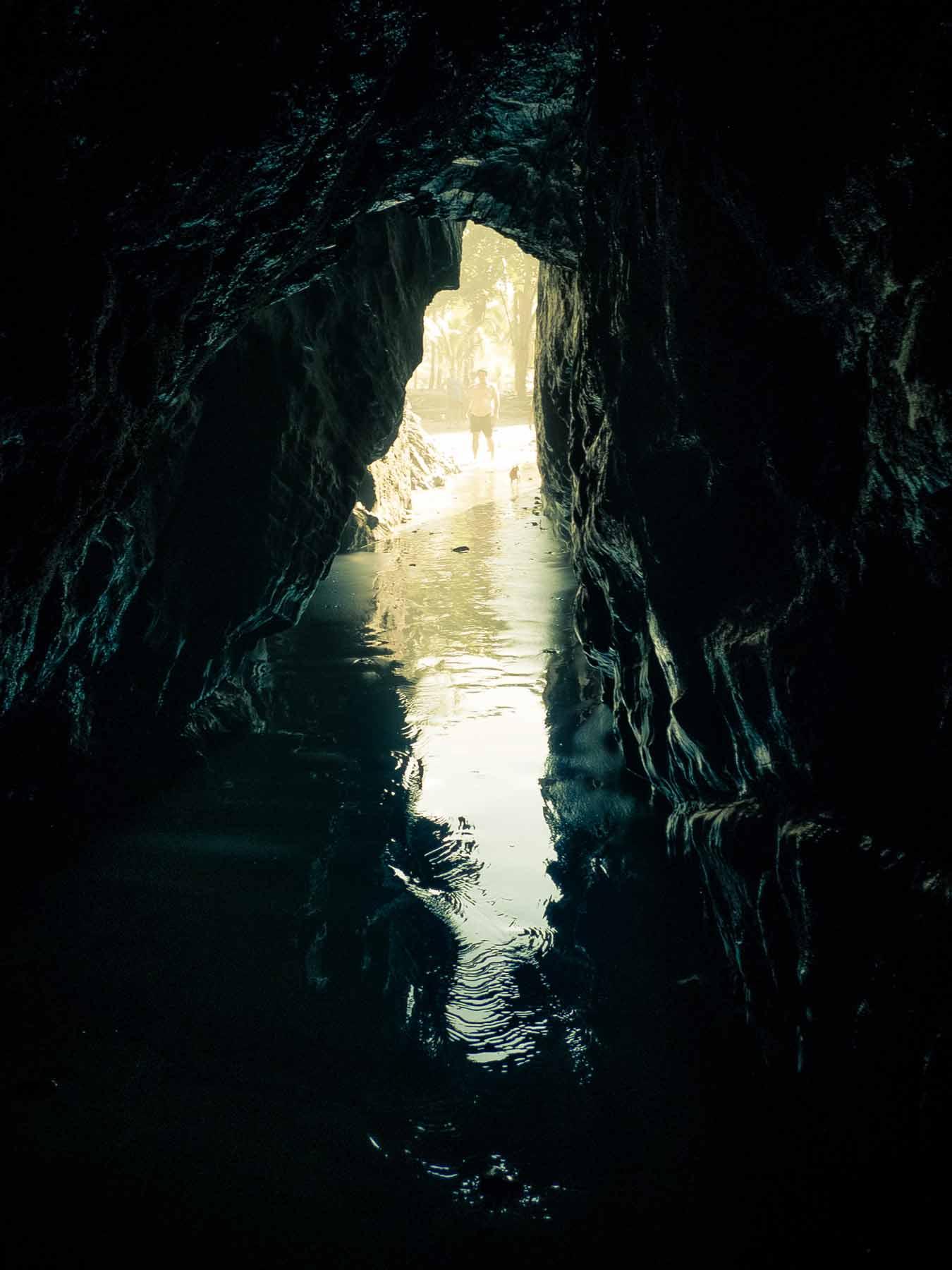 an ocean cave costa rica