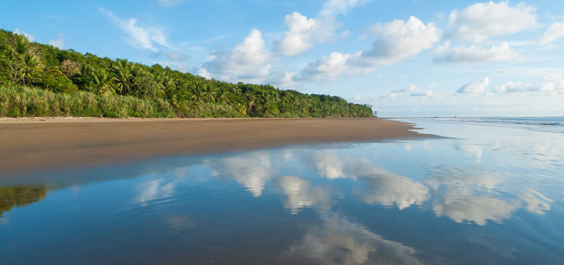 looking back on shore from the beach in uvita costa rica