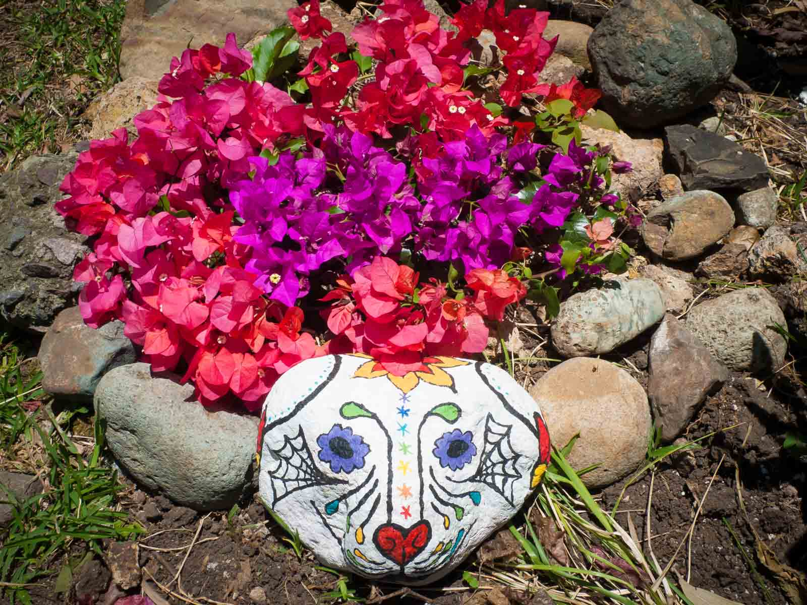 dog tombstone sugar skull