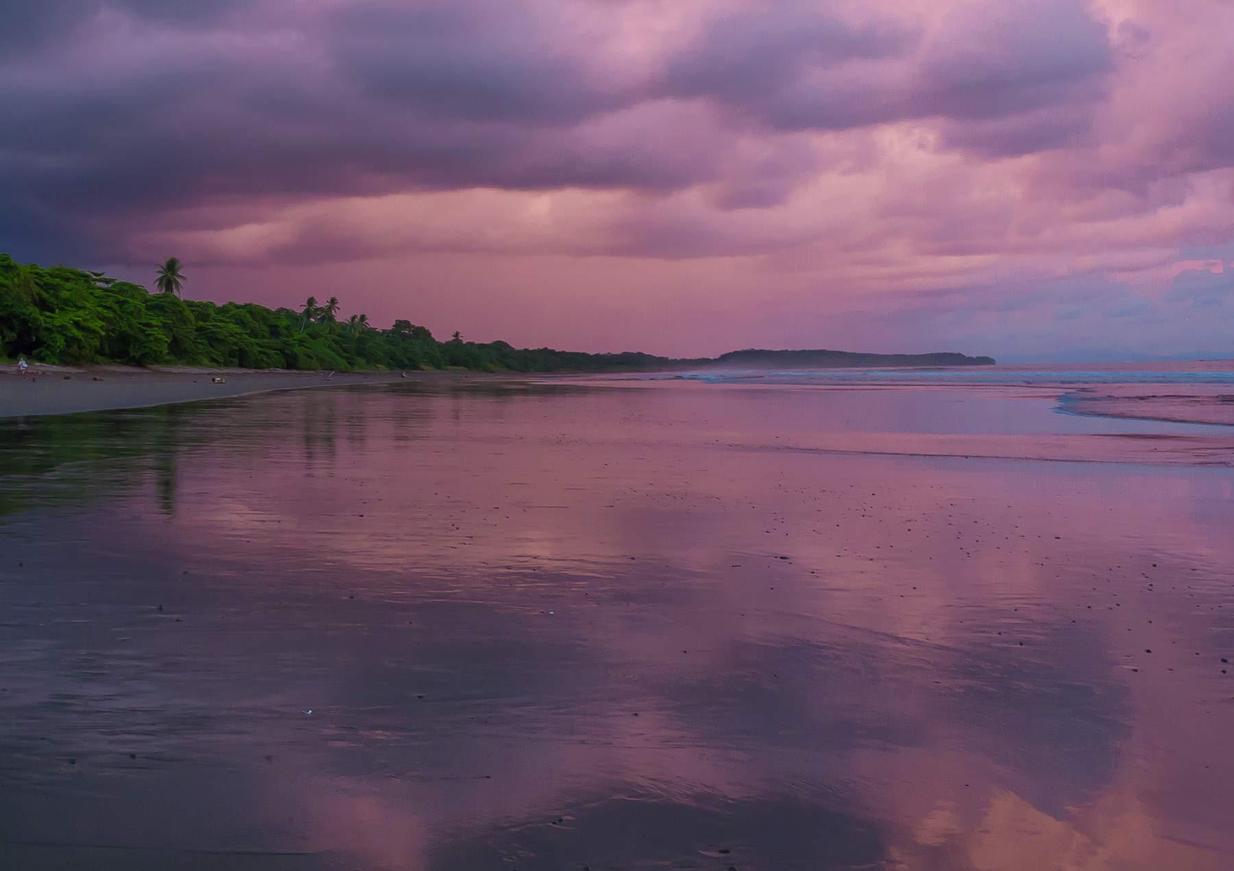 pink sunset uvita costa rica