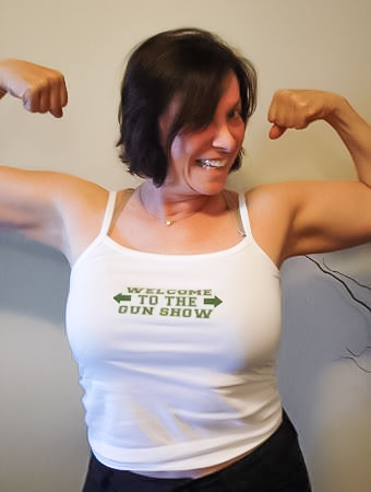 Tiger flexing her biceps, welcome to the gun show.