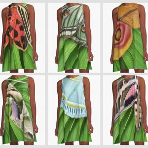 butterfly and moth animal print nature a line dresses on redbubble