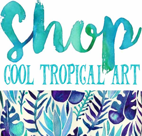 costa rica tropical art, pura vida stickers